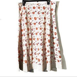 Eddie Bauer printed skirt size 12 floral print